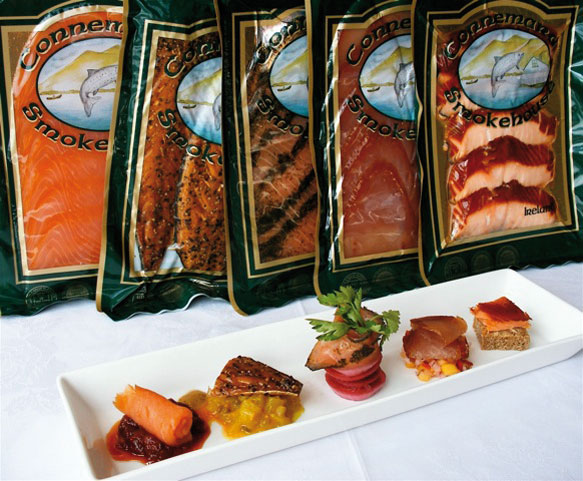 Smoked Salmon range at the Connemara Smokehouse