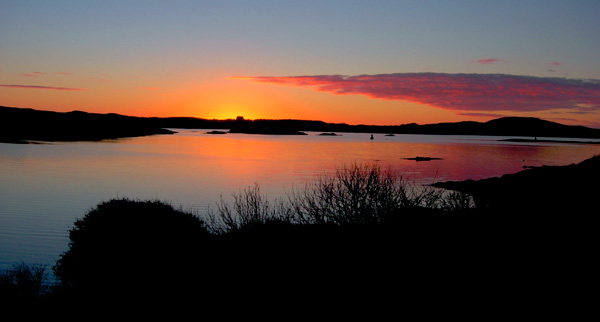 Sunset from Beach Road, Clifden