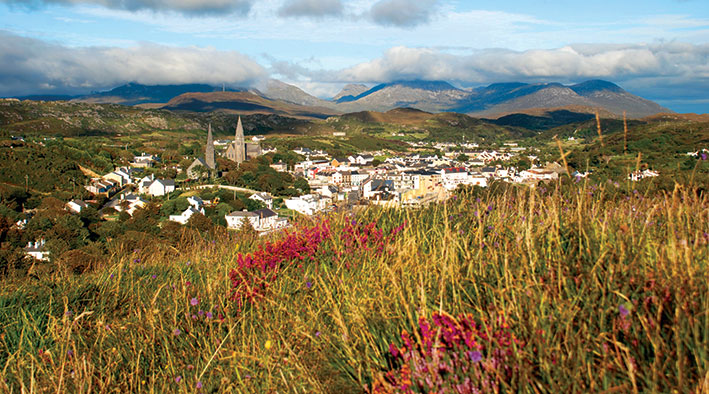 Clifden as seen from Monument Hill
