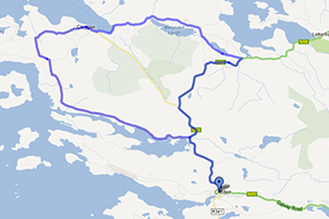 Map of Cleggan / Claddaghduff Cycle Route