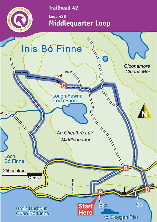 Inishbofin Walking Map